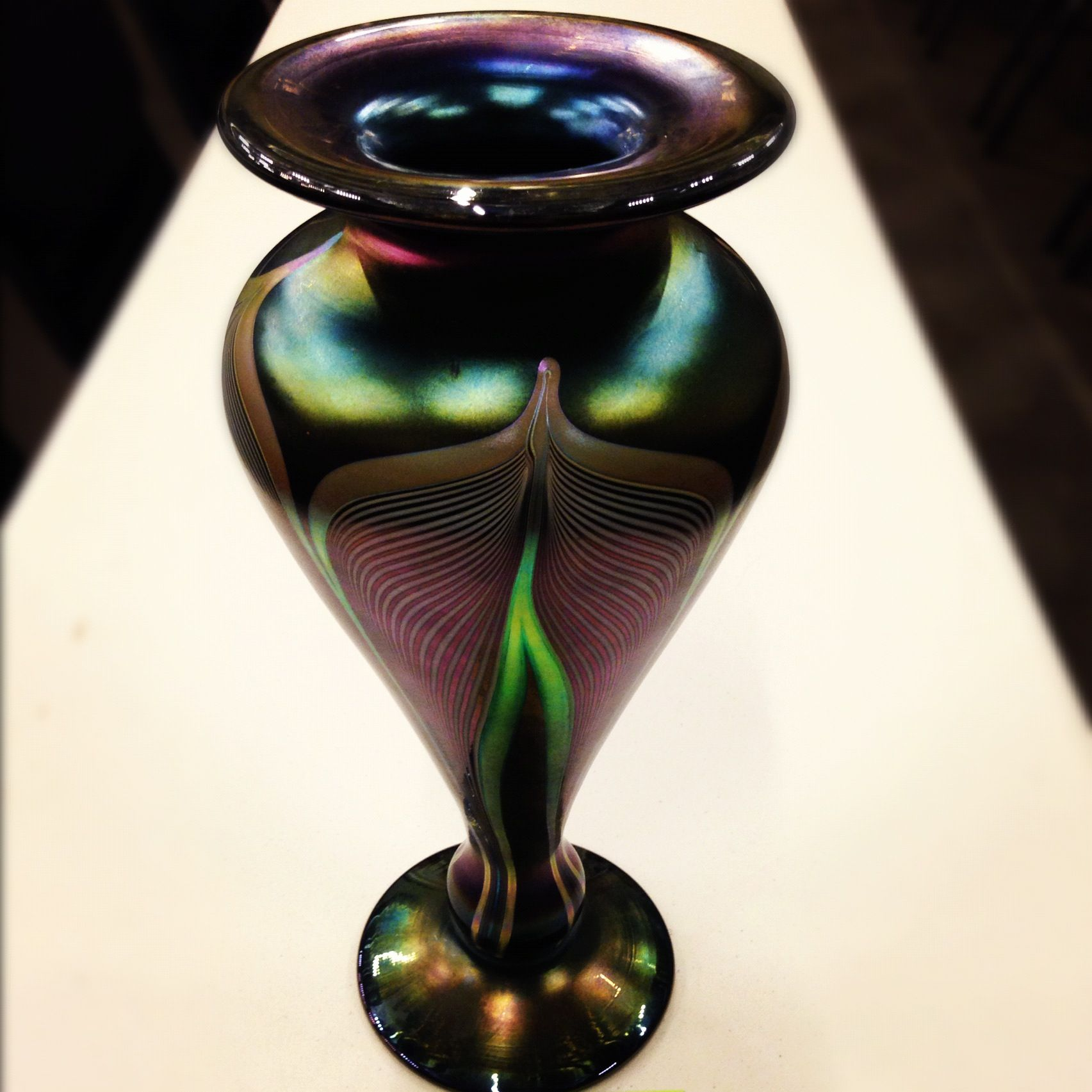 A beautiful blown glass art vase which is signed abelman a beautiful blown glass art vase which is signed abelman numbered v340 reviewsmspy