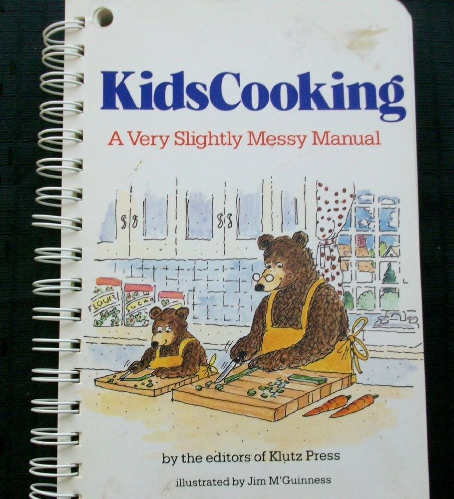 Kids Cooking A Very Slightly Messy Manual 1987 HC 2815 143 vintage cookbooks
