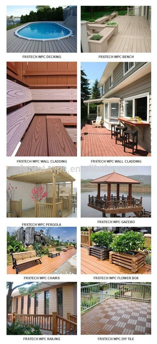 anti-scratch and moistureproof recycled outside wpc decking composite wood tiles outdoor tiles
