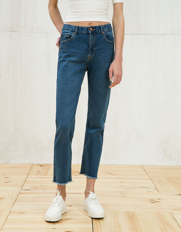 02a3c5a6e1 Cropped flare high waist jeans   El resto de cosas   High Waist ...