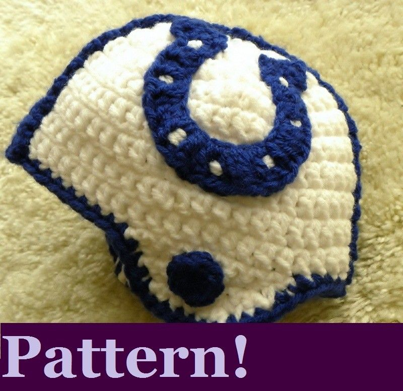CROCHET PATTERN Indianapolis Colts Crochet Helmet w/Permission to ...