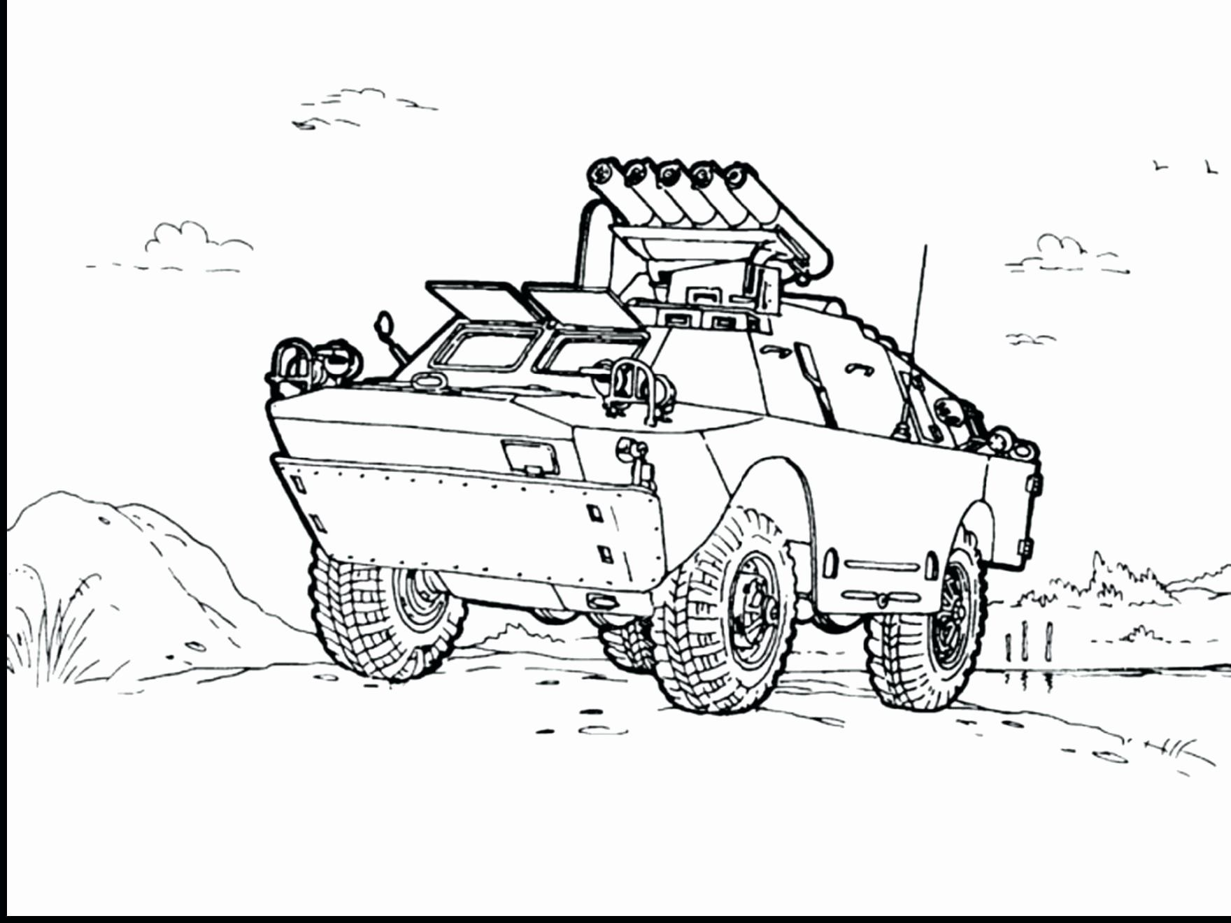 Coloring Pictures Of Military Vehicles Elegant Hummer