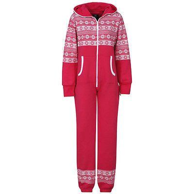 women ladies xams plus size onesie stylish christmas pyjamas snow flake onsie in clothes shoes