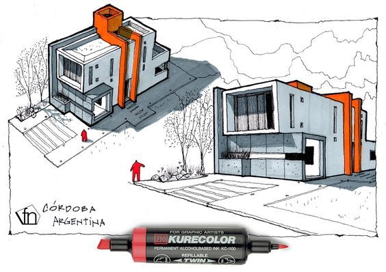 Architecture · architectural flow surrealist home illustrations by neyra