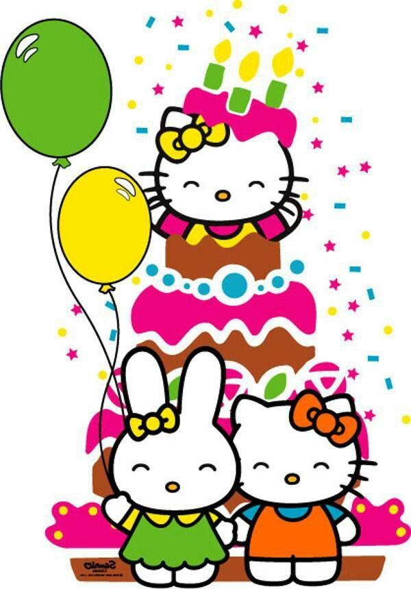 Открытка для хелло китти с днем рождения
