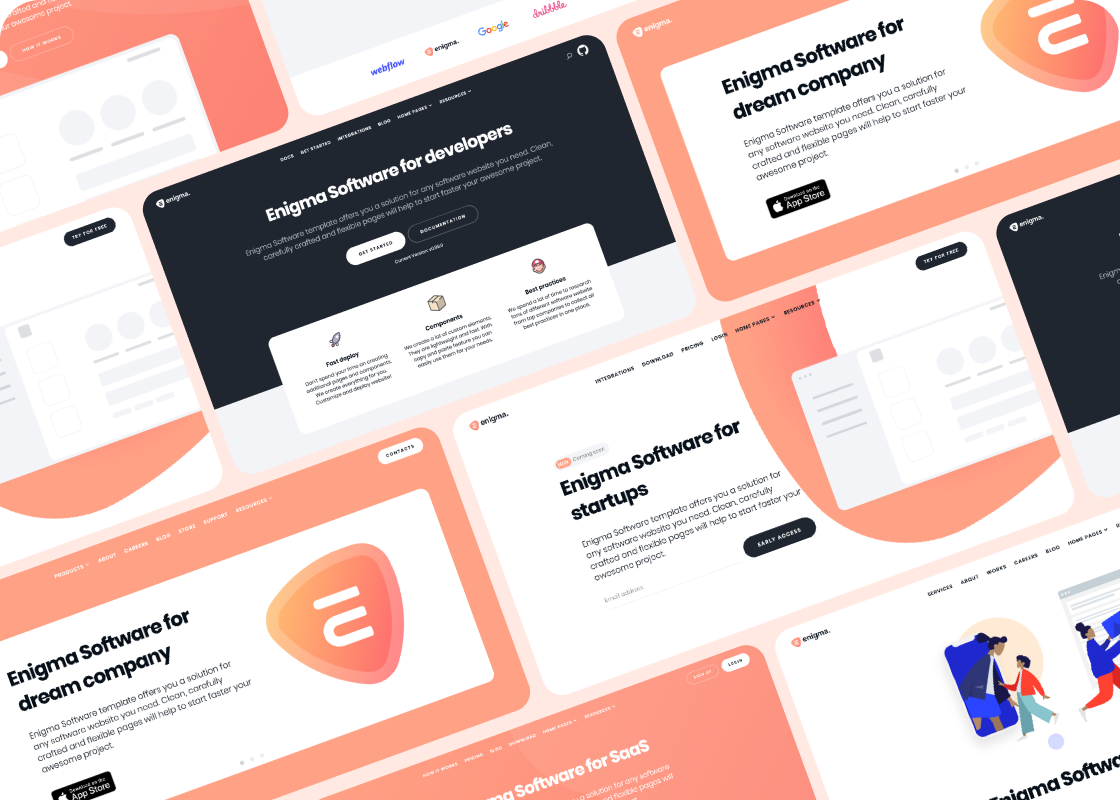 Enigma Technology Template Website Template Web Design Tools Templates