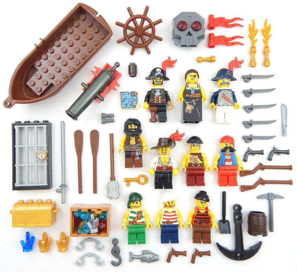 10 NEW LEGO PIRATE MINIFIGS figures minifigures captain boat treasure cannon lot