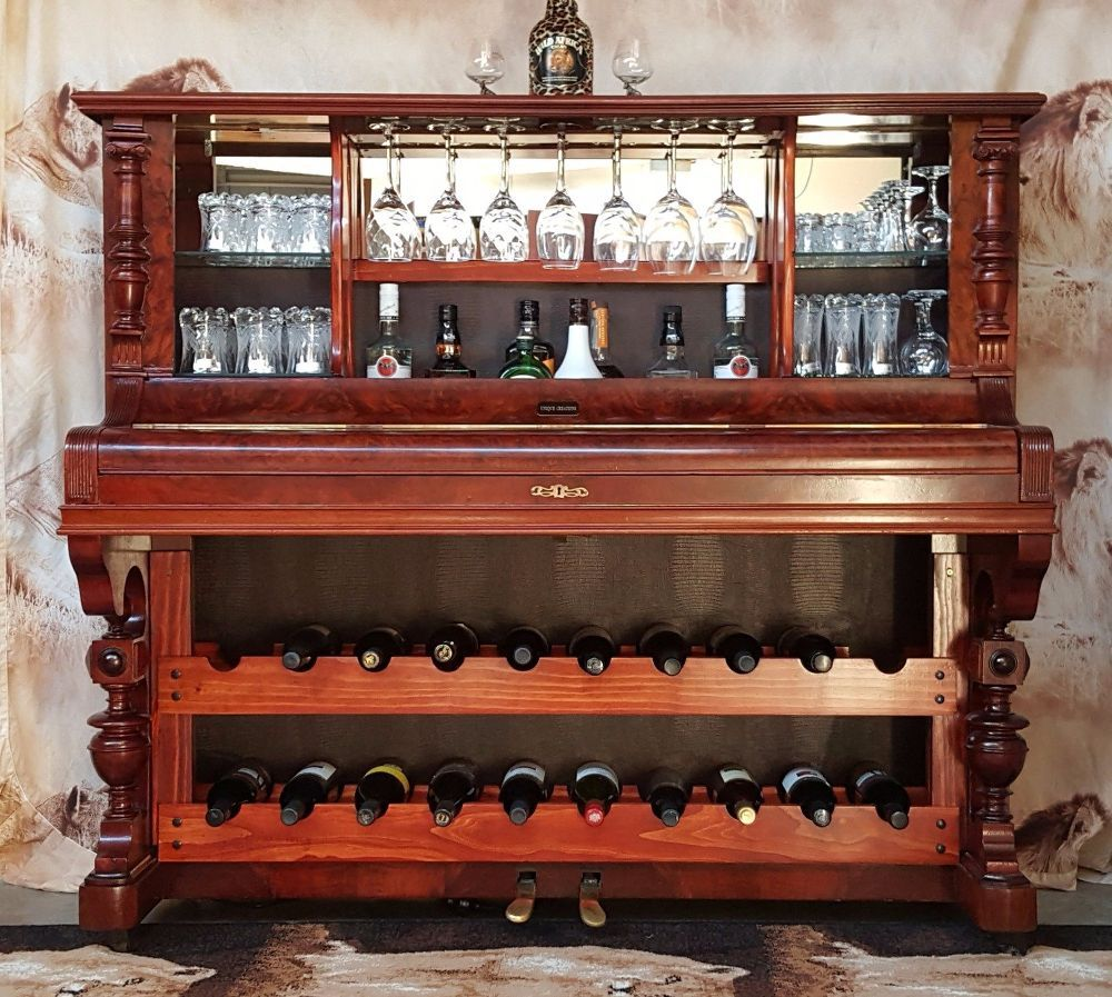 How To Repurpose A Piano Into A Bar/Drinks Cabinet