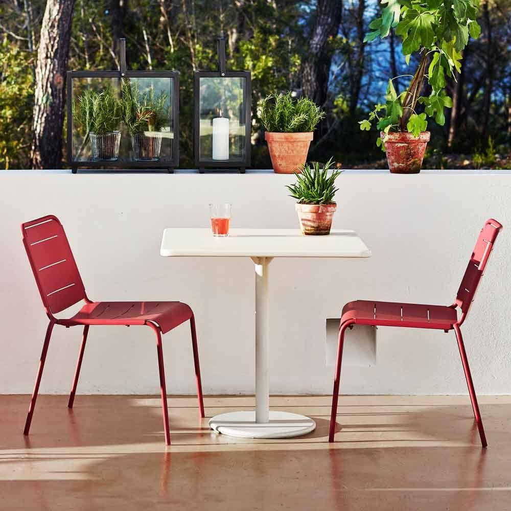 Cane Line Quadratischer Bistrotisch Go Grau Weiss Bistrotisch Moderne Stuhle Kleiner Gartentisch
