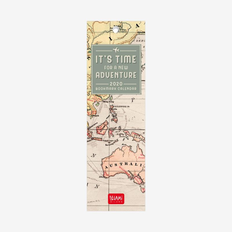 2020 Bookmark Calendar 5 5x18 Cm Travel Bookmark Calendars Bookmarks Stationery