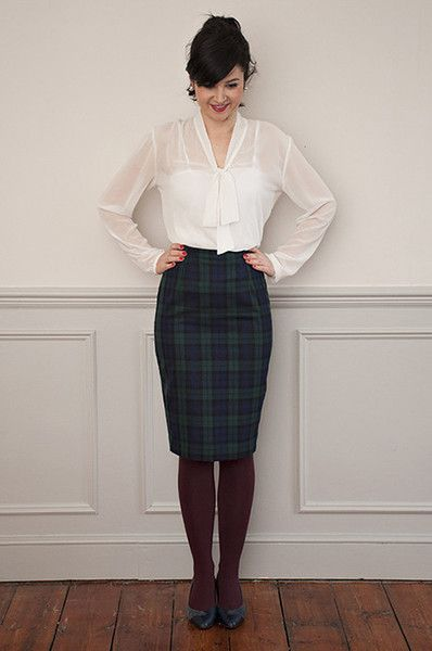 a7fce8be35 Share with:A flattering high-waisted pencil skirt with a kick pleat at the  back, she looks fab with our Pussy Bow Blouse or our Silk Cami or any shirt  or ...