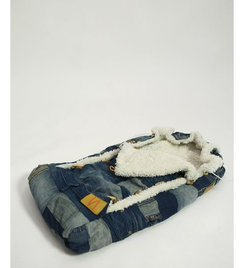Papoose baby bag from old denim jeans