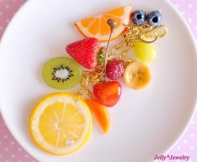 10種の果物ごろごろバッグチャーム♪画像1