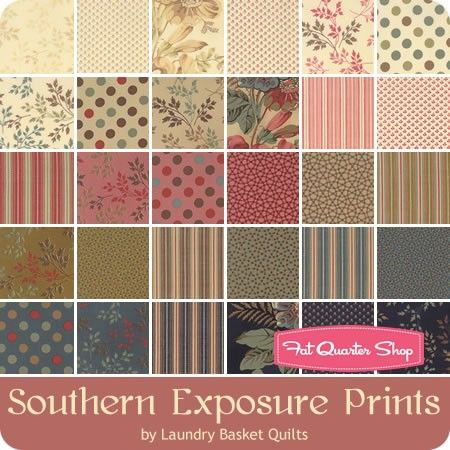 Southern Exposure Prints Charm Pack Reservation Laundry Basket