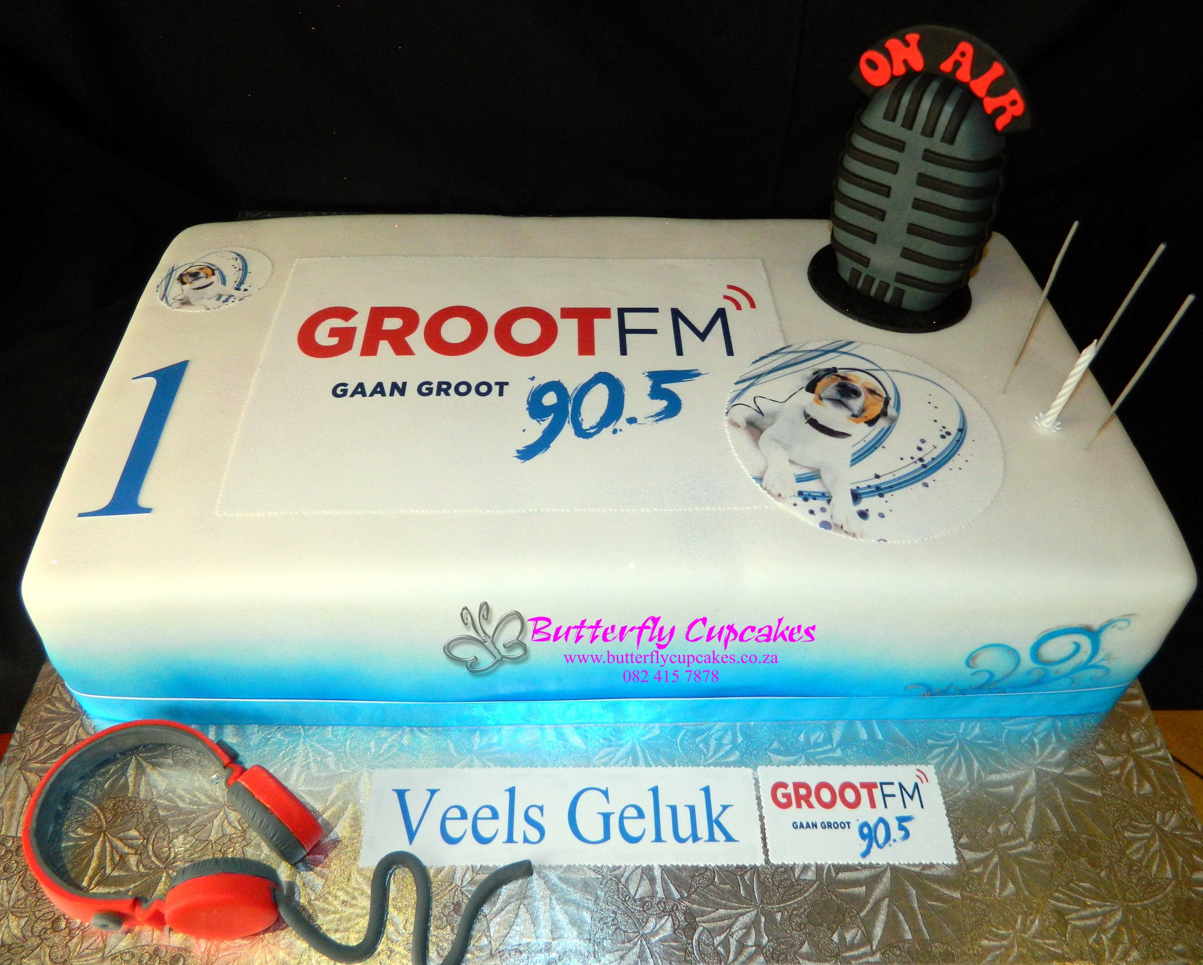 Grootfm Radio Station Birthday Cake From Butterfly