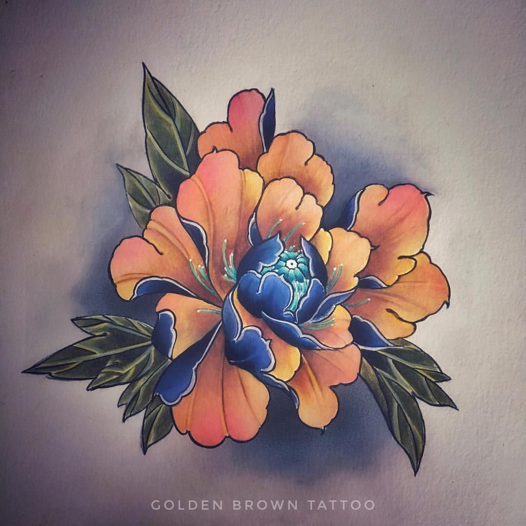 Golden Brown Tattoo 在 Instagram 上发布 Dispo Peony Available