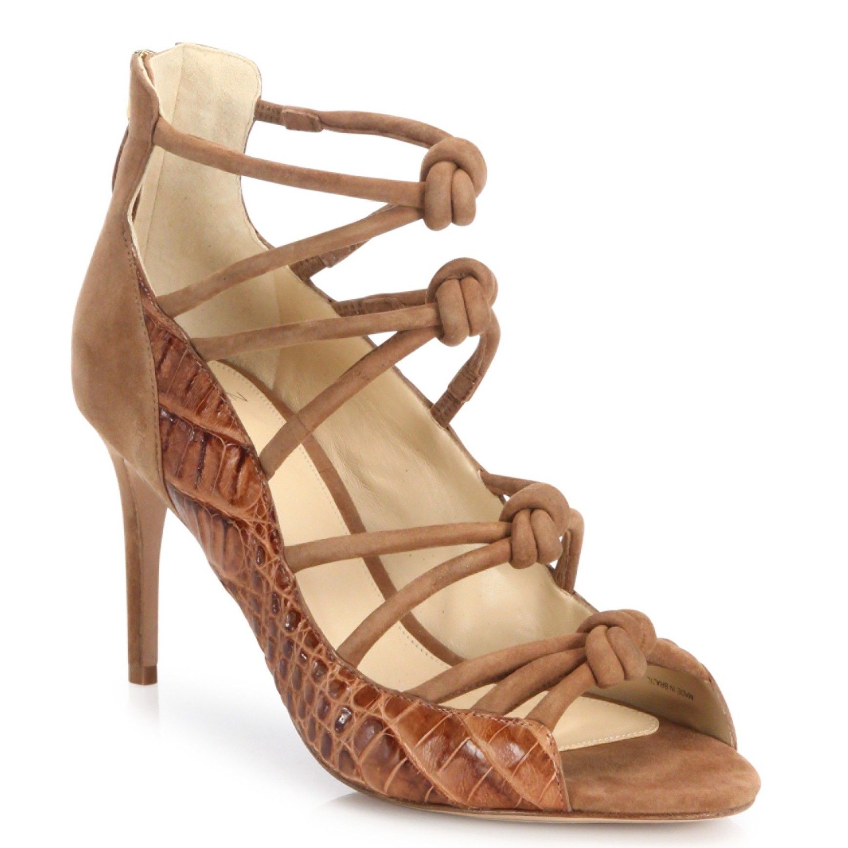 really cheap online discount from china Alexandre Birman Alligator Cage Sandals clearance best big discount sale online 30OElOzq