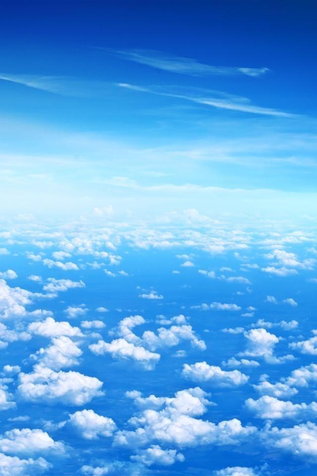 Wunderschoner Himmel Mit Schafchenwolken Blue Sky Wallpaper