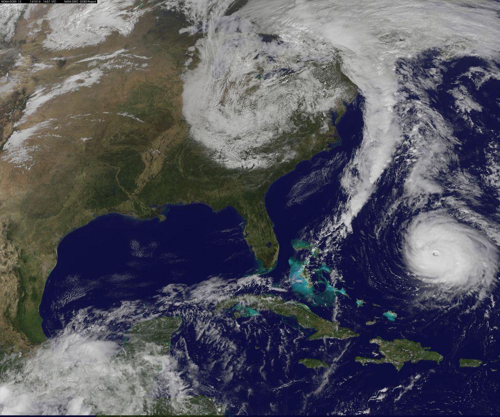 Hurricane Watch In Effect For Bermuda State Canvas Art Nasa Nasa Goddard
