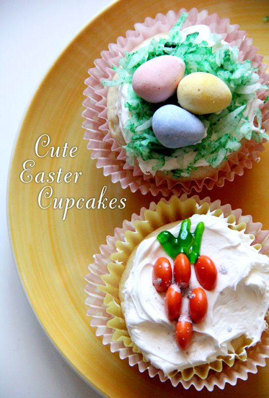 Need a cute dessert idea how about an easter basket or carrot need a cute dessert idea how about an easter basket or carrot cupcake recipe negle Choice Image