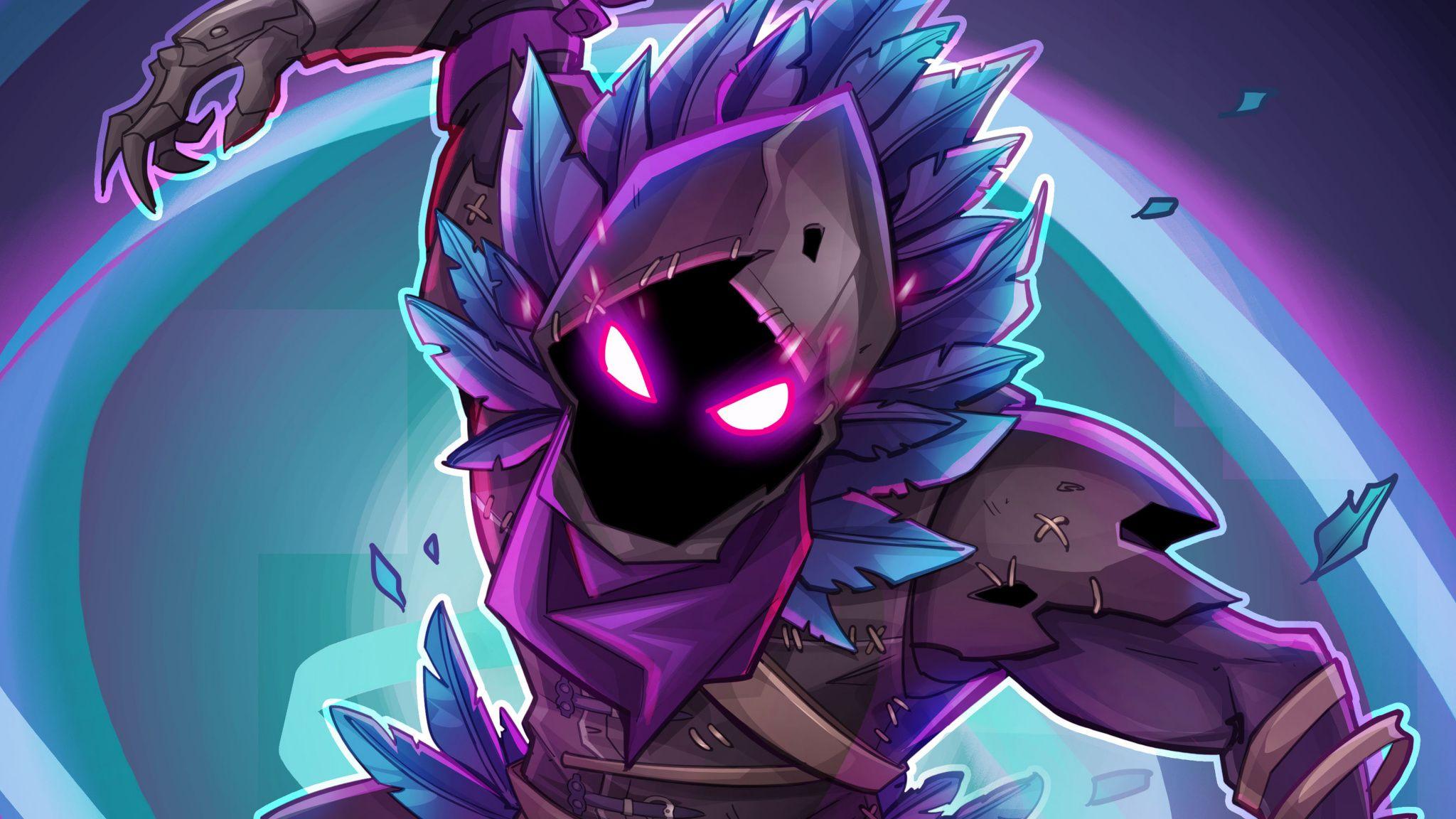 Raven, Fortnite Battle Royale, creature, game, 2048x1152