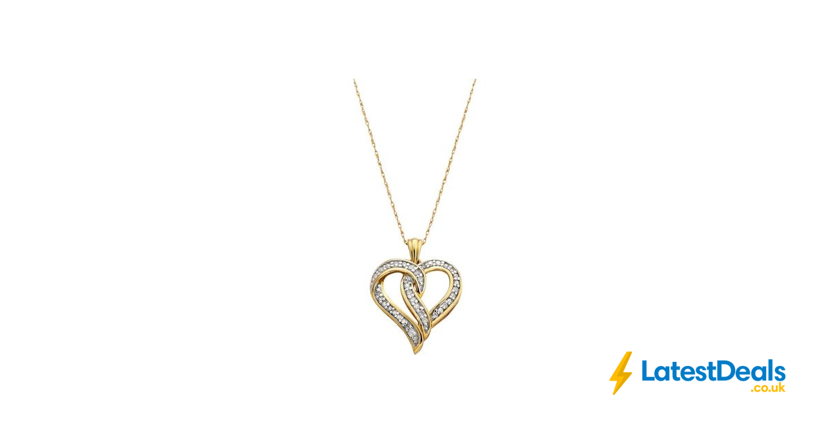 a20d118a4 Revere 9ct Gold 0.25ct Tw Diamond Heart Pendant save £150 Free C&C, £99.99  at Argos