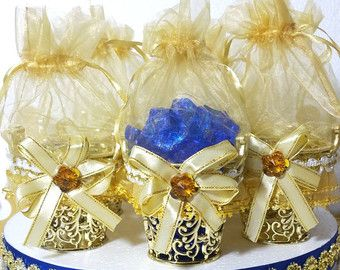12 royal prince baby shower favor heart carriages perfect for boys royal blue and gold