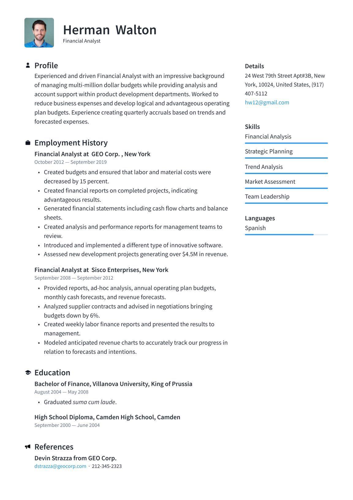 Resume Builder · Resume.io