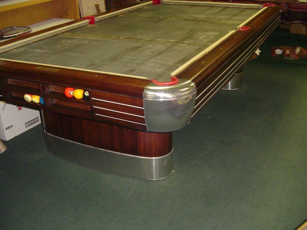 Vintage Brunswick Billiards 9 Ft Anniversary Pool Table