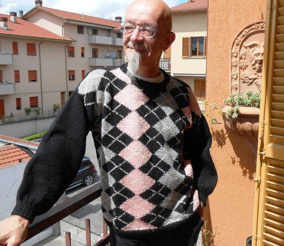 Maglioni Tartan in Pura lana Merino fatti a mano a di cosediisa, €150.00