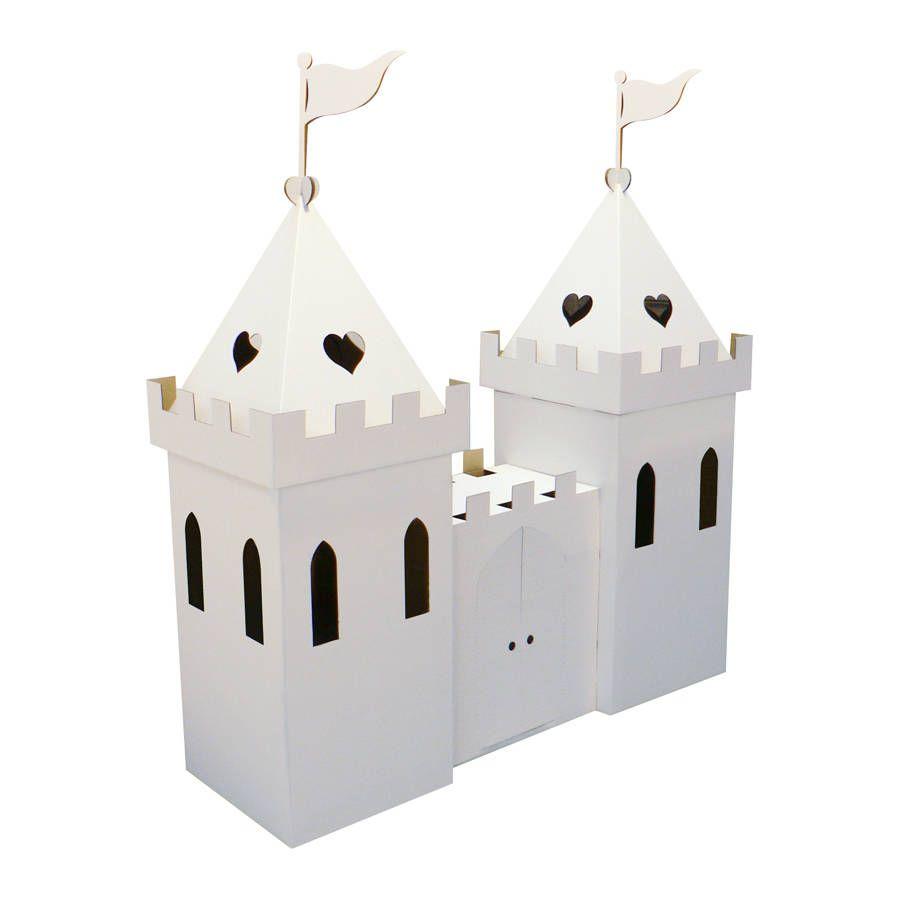 White Kid-Eco Cardboard Large Princess Palace Playhouse Kit