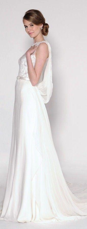 Eugenia bridal spring 2016 harmony sleeveless wedding dress draped back