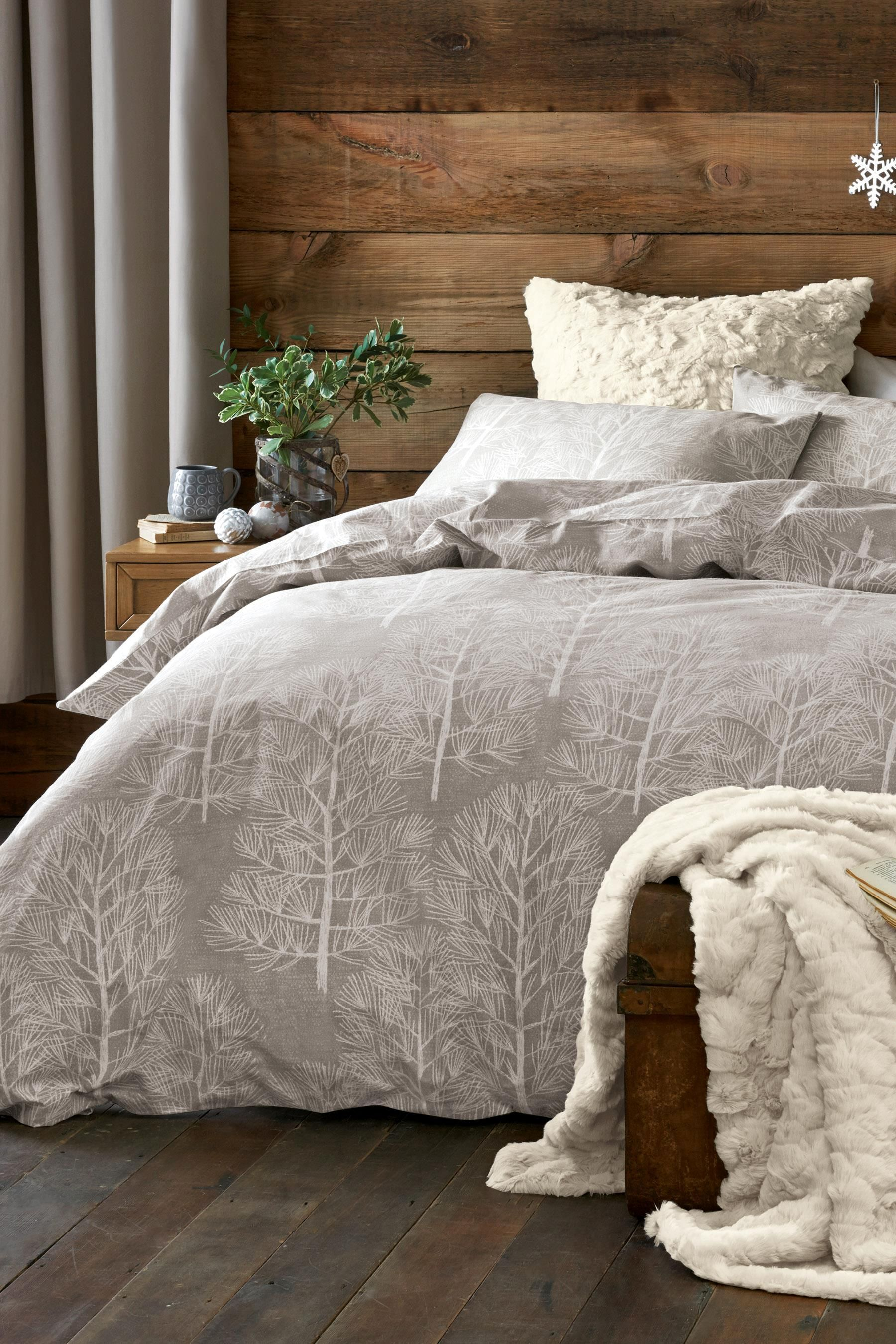 Buy Brushed Cotton Natural Trees Bed Set From The Next Uk Online Shop Bed Linens Luxury Home Bedroom Hygge Bedroom