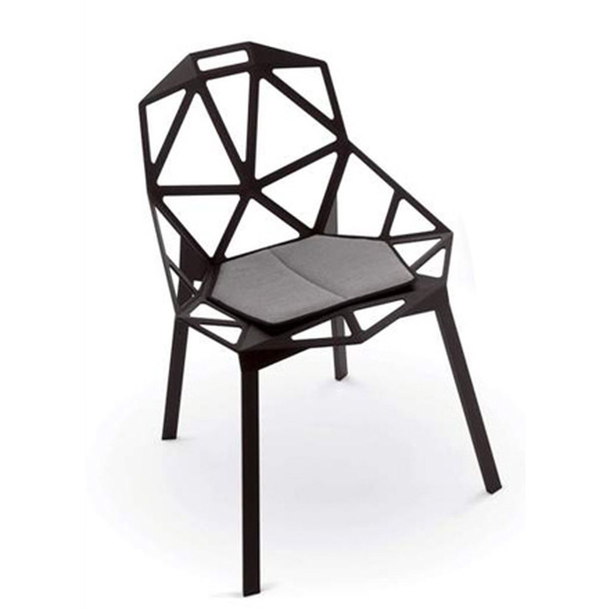 Chair One magis chair one stapelstuhl schwarz futuristic interior
