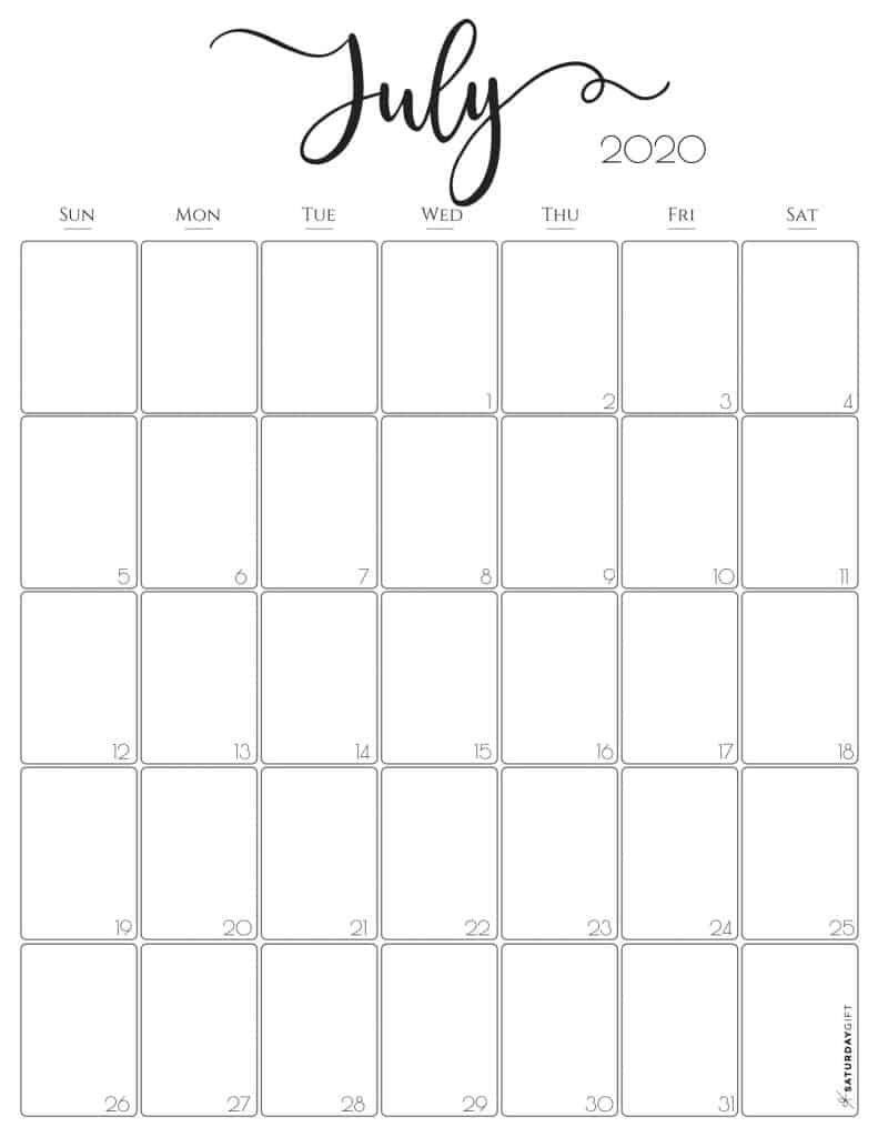 Simple & Elegant Vertical 2021 monthly Calendar   Pretty