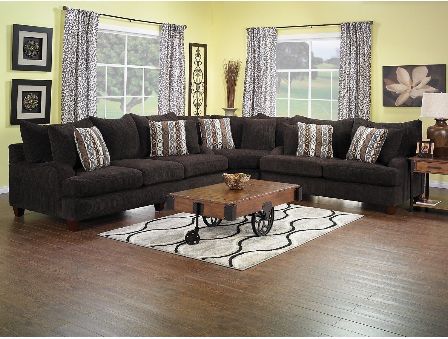 the brick living room furniture. Living Room Furniture - Putty Chenille Sectional Chocolate. SectionalThe BrickLiving The Brick I