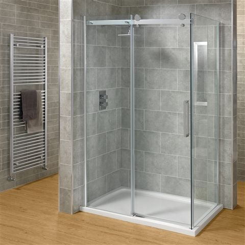 Saneux Steel Shower Enclosure - £785 | Bathroom Heaven http://www.bathroomheaven.com/sliding-shower-enclosures/steel-sliding-shower-enclosure-1000x760mm-easy-clean--19623.aspx