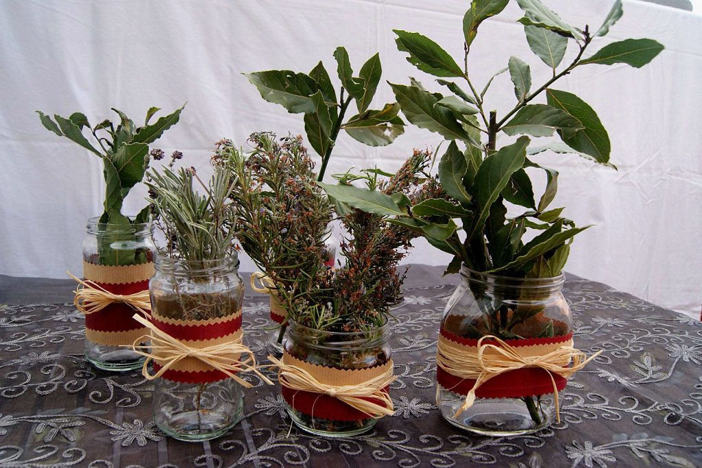 Tarritos decorativos con hierbas aromáticas | Aprender manualidades es facilisimo.com