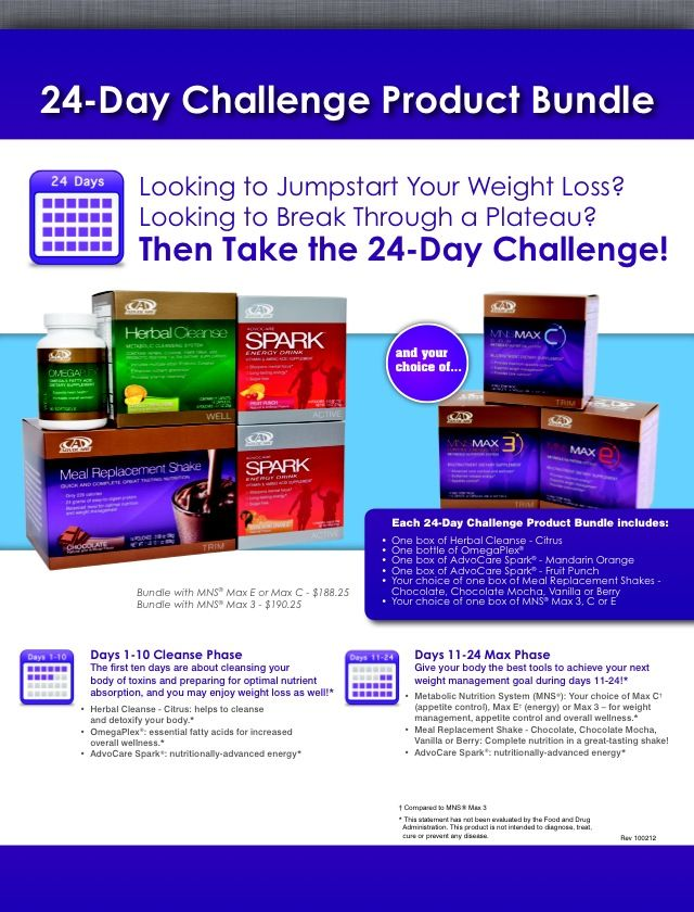 24 day challenge brochure | Advocare 24 day challenge ...