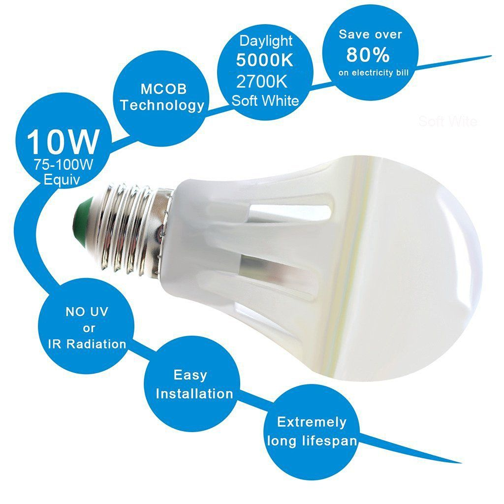 Led Bulb 100 Watt Equivalent Ceiling Light Shades Bulb Light Bulb