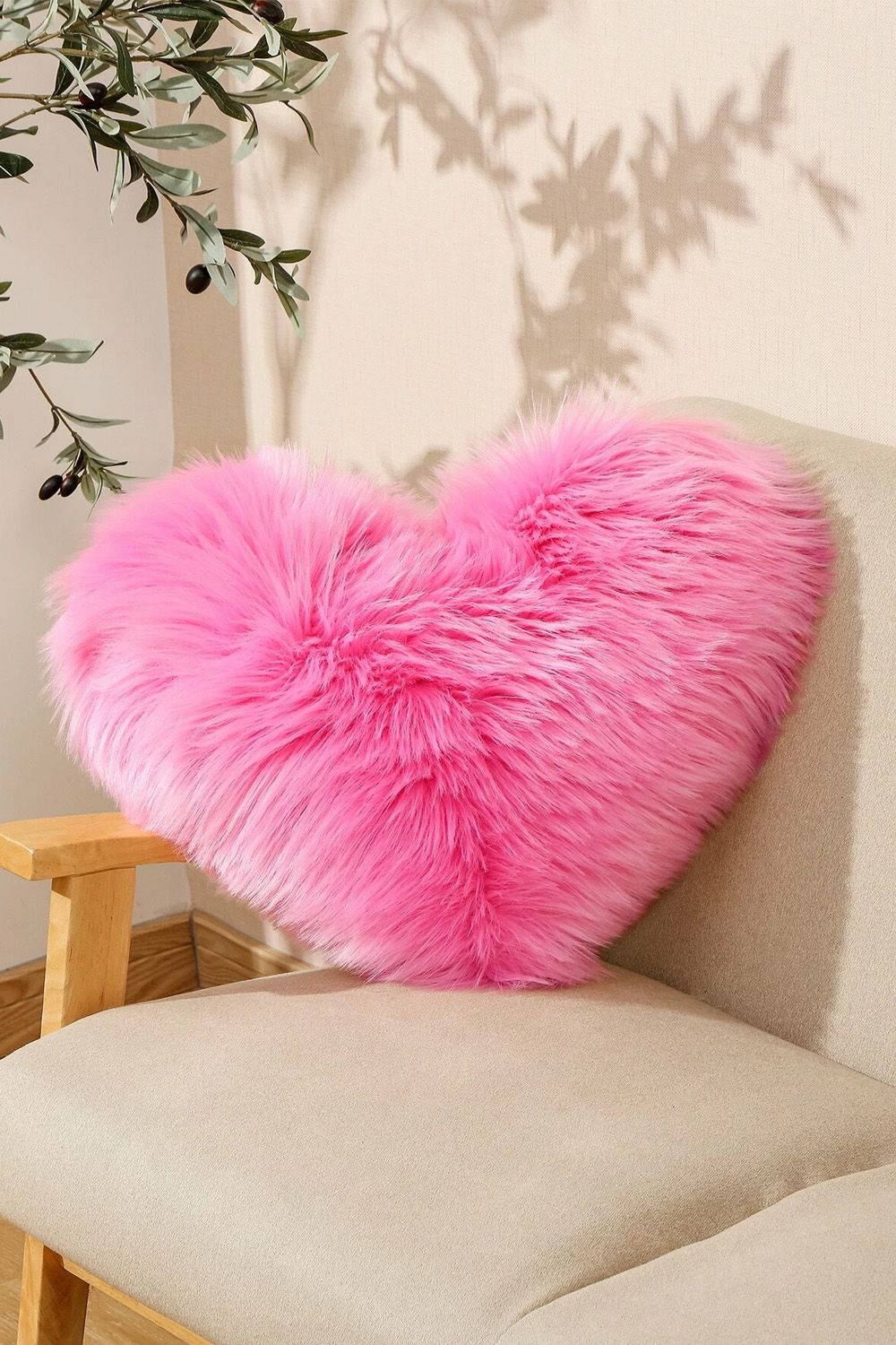 Heart shaped plush cushion cover without filler in 2020