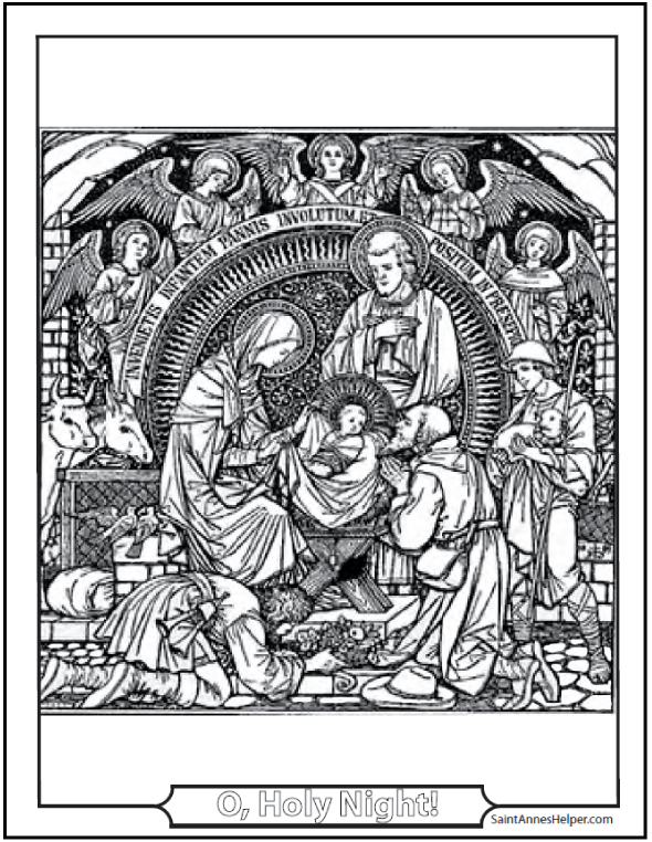 christmas angel coloring page nativity scene with angels