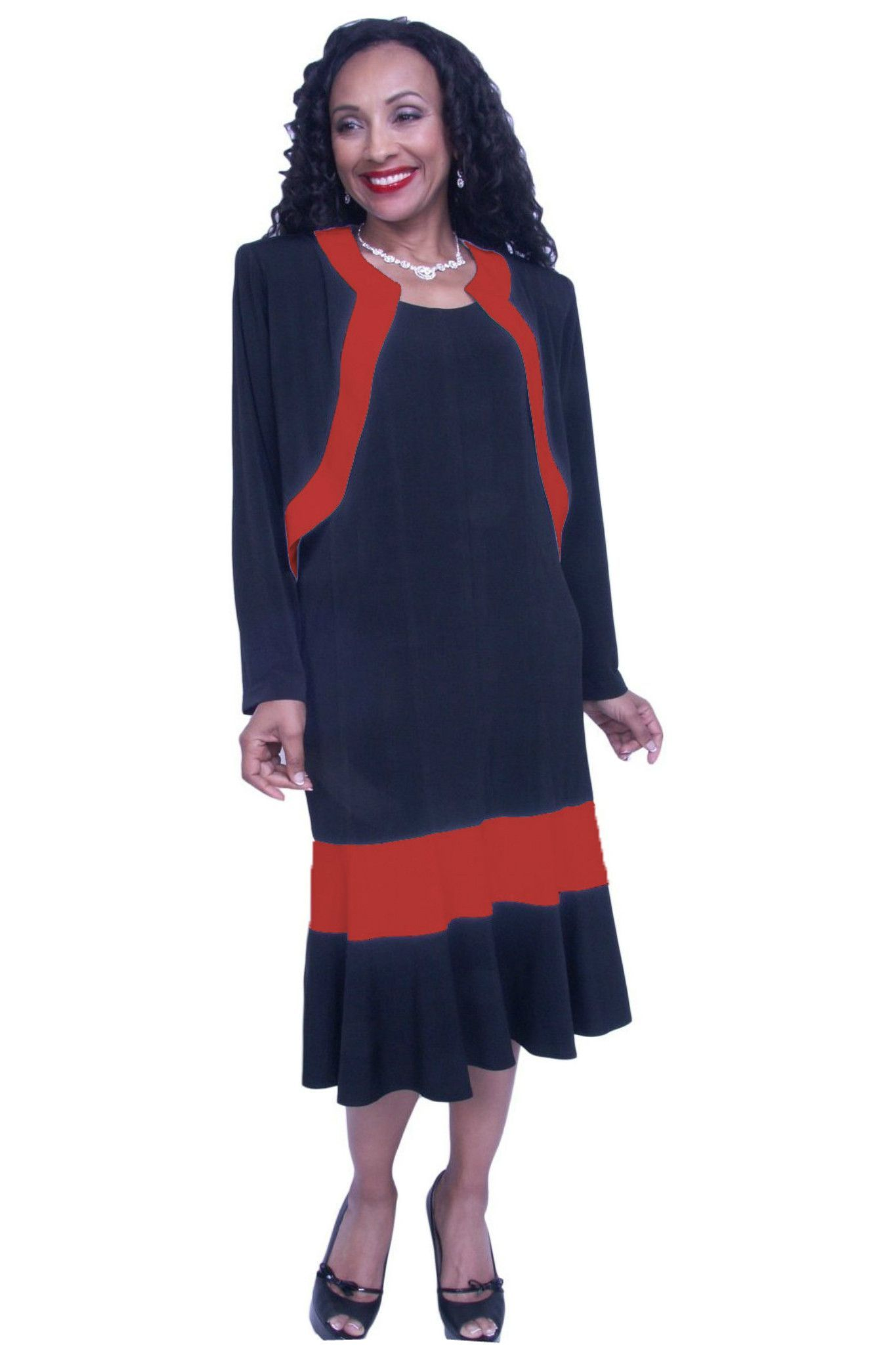 Gorgeous classy mother of the bride plus size tea length dress with