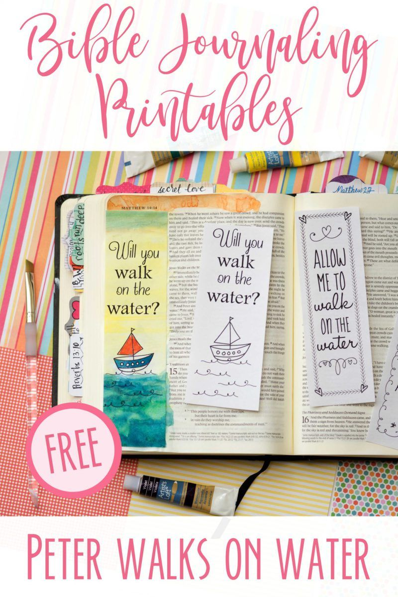 Bible Journaling Printables Peter Walks On The Water