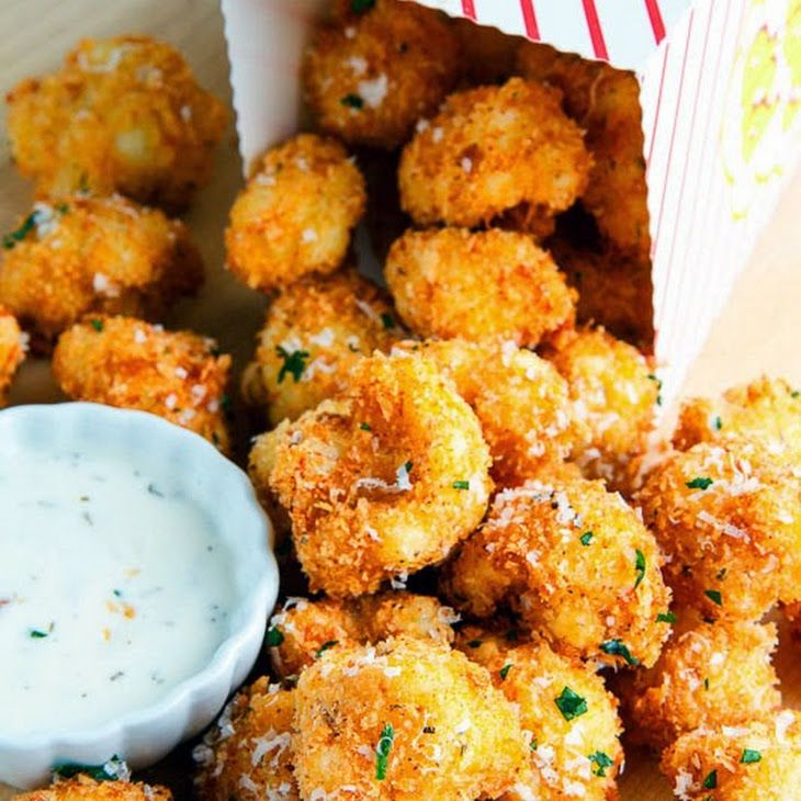Crispy Parmesan Cauliflower Bites Recipe Appetizer Recipes