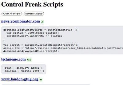 Control Freak - #Chrome extension - Greasemonkey-like mods, but