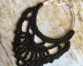 115. ONE Crochet Earrings Pattern, Crochet Earring Pattern, PDF File - Crochet pattern - PDF, pattern for advanced crocheters, long dangle #crochetedearrings