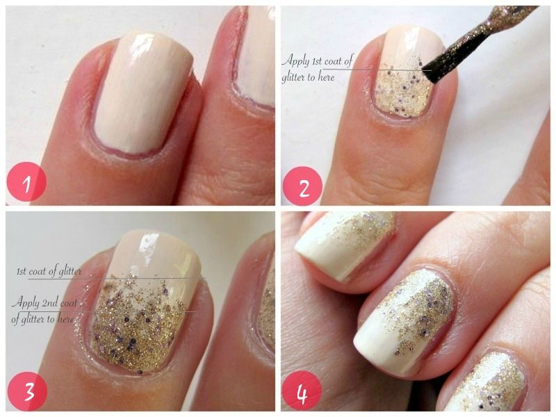 Makeup and Macaroons: Gradient glitter nails in 4 easy steps | Gel ...