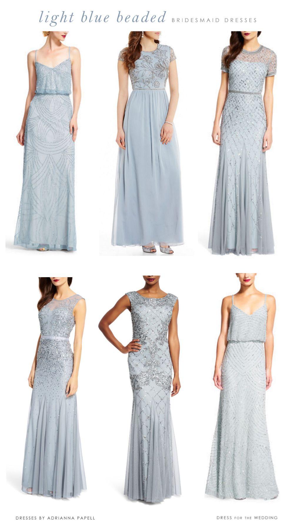 Light blue mix and match bridesmaid dresses bridesmaid dress ideas