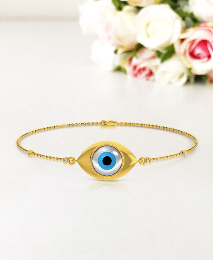 6mm 3 Strand Evil Eye Turquoise Bead Bracelet *Clasp Choices Available*